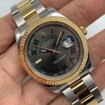 Rolex Datejust II Or/Acier 41mm Gris Romain