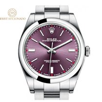 Rolex Oyster Perpetual 39 Acero 39mm Rojo Sin cifras