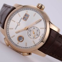 Ulysse Nardin Dual Time Rose gold 42mm Silver No numerals United States of America, New Jersey, Princeton