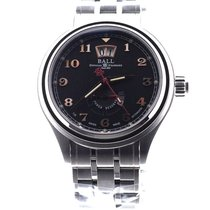Ball Steel Automatic Black Arabic numerals 43mm new Trainmaster Cleveland Express