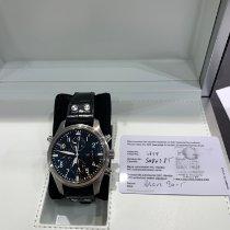 IWC Pilot Double Chronograph Acier 46mm Noir Arabes France, STRASBOURG
