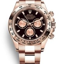 Rolex Daytona Oro rosa 40mm Negro Sin cifras