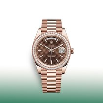 Rolex Day-Date 40 Rose gold 40mm Brown No numerals United States of America, New York, New York