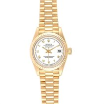 Rolex Lady-Datejust Oro amarillo 26mm Blanco Romanos