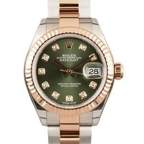Rolex Lady-Datejust Gold/Steel 28mm Green United Kingdom, London