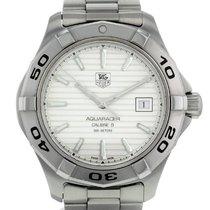 TAG Heuer Aquaracer occasion 41mm Blanc Date Acier