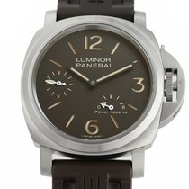 Panerai Luminor Power Reserve pre-owned 44mm Brown Rubber