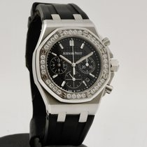 Audemars Piguet Royal Oak Offshore Lady occasion 37mm Noir Chronographe Date Caoutchouc