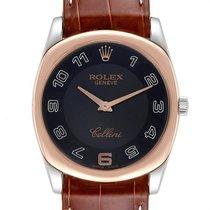 Rolex Cellini Danaos Ouro rosa 34mm Preto Árabes