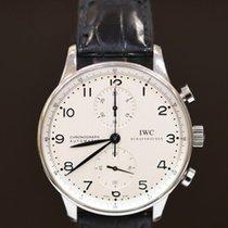 IWC Portuguese Chronograph Stål 41mm Hvit Arabisk