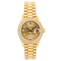 Rolex Lady-Datejust 26mm Champagne Sans chiffres