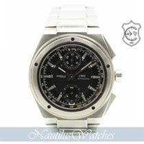 IWC Steel Automatic Black No numerals 42mm pre-owned Ingenieur AMG
