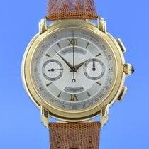 Maurice Lacroix Gelbgold Handaufzug Silber 41mm gebraucht Masterpiece