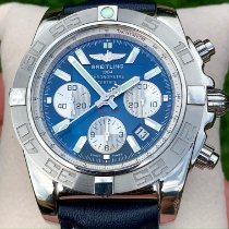 Breitling Chronomat 44 Steel 43.5mm Blue No numerals