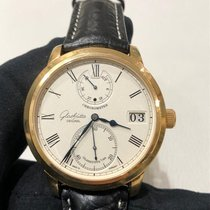Glashütte Original Senator Chronometer occasion 42mm Argent Cuir de crocodile