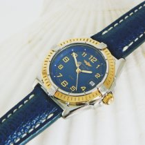 Breitling Wings Lady Gold/Steel 31mm Blue Arabic numerals