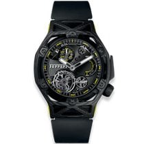Hublot Techframe Ferrari Tourbillon Chronograph Koolstof 45mm Doorzichtig Geen cijfers