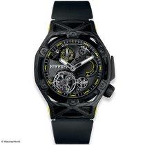Hublot Techframe Ferrari Tourbillon Chronograph Carbono 45mm Transparente Sin cifras