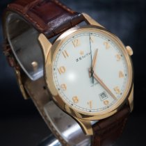 Zenith Captain Central Second Złoto różowe 40mm Srebrny Arabskie