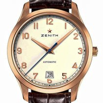 Zenith Captain Central Second Rose gold 40mm Silver Arabic numerals