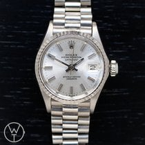 Rolex Oro blanco Automático 26mm usados Oyster Perpetual Lady Date