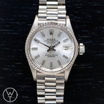 Rolex 6517 Hvitt gull 1968 Oyster Perpetual Lady Date 26mm brukt