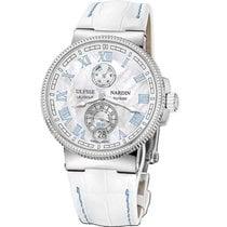 Ulysse Nardin Titanium Automatic Mother of pearl Roman numerals 43mm new Marine Chronometer Manufacture