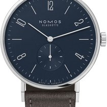 NOMOS Tangente 38 Steel 37.5mm Blue United States of America, New York, Airmont