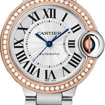 Cartier Ballon Bleu 33mm новые Автоподзавод Часы с оригинальными документами и коробкой WE902080