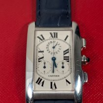 Cartier Tank Américaine pre-owned 26mm White Chronograph Date Leather