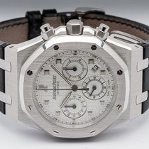 Audemars Piguet Or blanc Remontage automatique Argent Sans chiffres 39mm occasion Royal Oak Chronograph