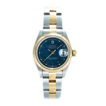 Rolex Oyster Perpetual Lady Date Or/Acier 26mm Bleu