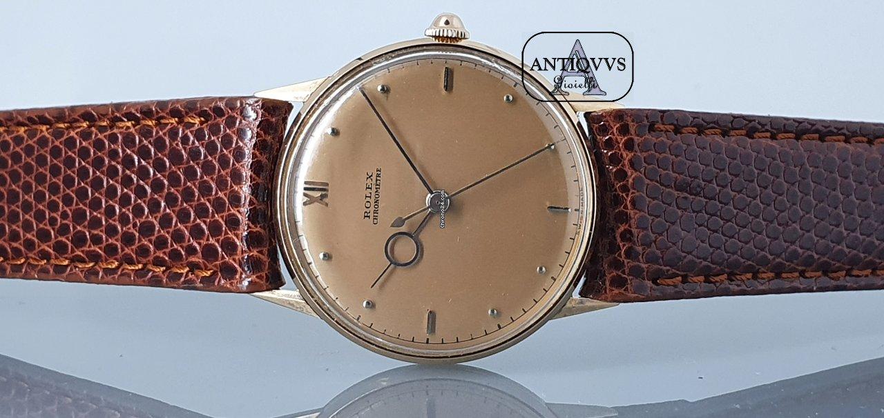 Rolex Vintage pink gold chronometer precision pontif hands
