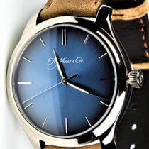 H.Moser & Cie. Endeavour Oro blanco 40mm Azul Sin cifras