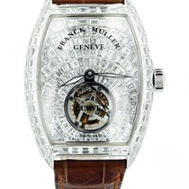 Franck Muller new Automatic Gemstones and/or diamonds 37mm White gold Sapphire crystal