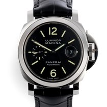 Panerai Luminor Marina Automatic Aço 44mm Preto Sem números