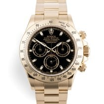 Rolex Yellow gold Automatic Black 40mm pre-owned Daytona