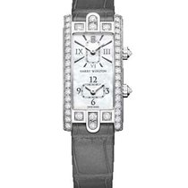 Harry Winston Avenue AVCQTZ19WW001 Nou Aur alb 19mm Cuart