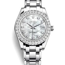 Rolex Pearlmaster Or blanc 34mm Nacre