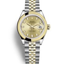 Rolex Lady-Datejust Or/Acier 28mm Champagne