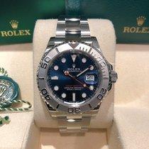 Rolex Yacht-Master 40 Staal 40mm Blauw Geen cijfers