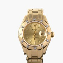 Rolex Lady-Datejust Pearlmaster Yellow gold 29mm Gold No numerals