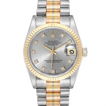 Rolex Datejust Oro blanco 31mm Plata