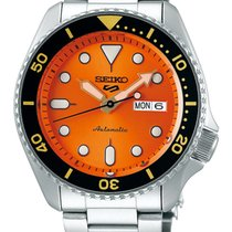Seiko 5 Sports Steel 43mm Orange