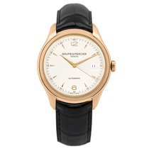 Baume & Mercier Red gold Automatic Silver 39mm new Clifton