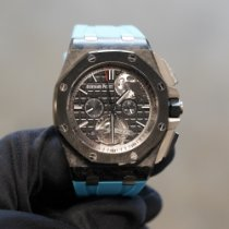 Audemars Piguet Royal Oak Offshore Tourbillon Chronograph Carbono 44mm Negro Sin cifras