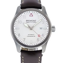 Bremont Steel Automatic White 43mm pre-owned Solo