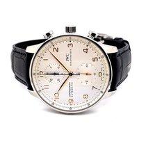 IWC Steel Automatic Silver Arabic numerals new Portuguese Chronograph