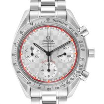 Omega Speedmaster Racing pre-owned 39mm Silver Chronograph Steel
