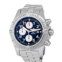 Breitling Super Avenger pre-owned 49mm Blue Chronograph Date Tachymeter Steel